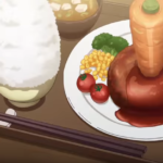 【ウマ娘】コラボカフェやったらメニュー豊富で面白そう!スペちゃんの人参ぶっ刺しハンバーグ