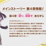 【ウマ娘速報】メインストーリー4章の主役はナリタブライアン!新衣装の実装も来る!?